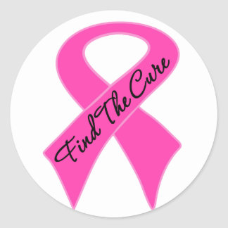 Breast Cancer Find The Cure Classic Round Sticker