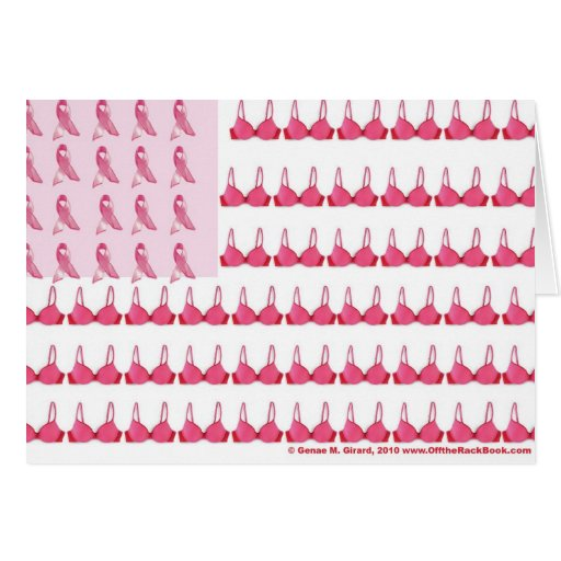 Breast Cancer Flag Final Greeting Cards