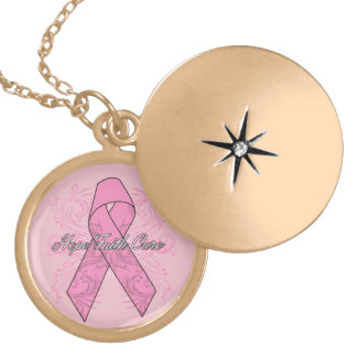 Breast Cancer Flourish Hope Faith Cure Locket