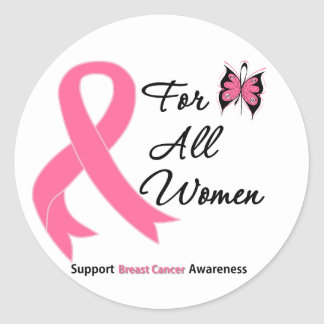 Breast Cancer For All Women Classic Round Sticker