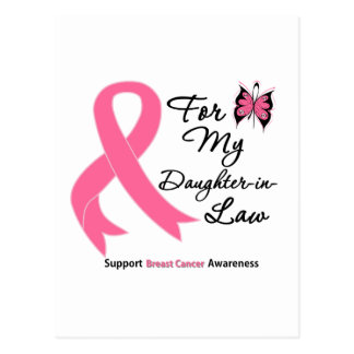 Breast Cancer For My Daughter-in-Law Postcard