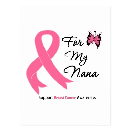 Breast Cancer For My Nana Post Card