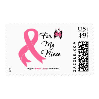 Breast Cancer For My Niece Postage Stamp