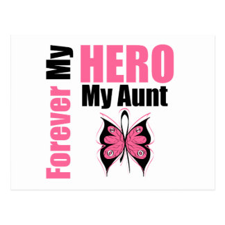 Breast Cancer Forever My Hero My Aunt Postcard