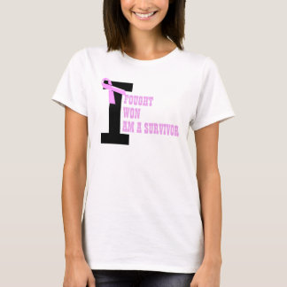 Breast Cancer Fought Survived Won T-Shirt