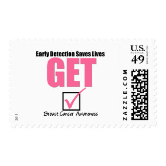 Breast Cancer Get Checked v4 Postage Stamps