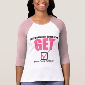 Breast Cancer Get Checked v4 T-shirt