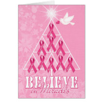 Breast Cancer Get Well Pink Ribbon Card
