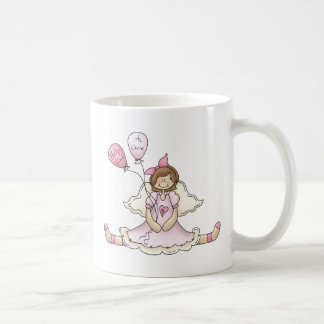 Breast Cancer girl with balloons Coffee Mug