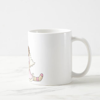 Breast Cancer girl with balloons Coffee Mugs