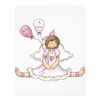 Breast Cancer girl with balloons Personalized Flyer
