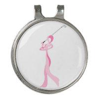 Breast Cancer Golfer Ribbon Golf Hat Clip