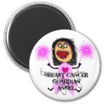 Breast Cancer Guardian Angel 2 Inch Round Magnet
