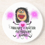 Breast Cancer Guardian Angel Coaster