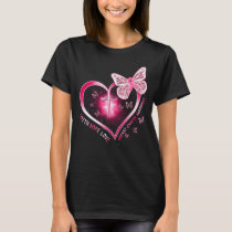 breast cancer heart cross butterfly gift survivor T-Shirt