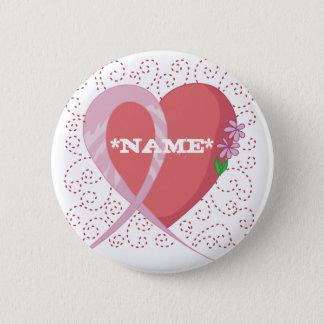 Breast Cancer Heart Customizable Button