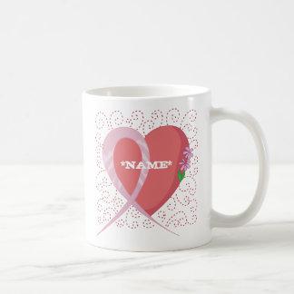 Breast Cancer Heart Customizable Mug