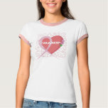 Breast Cancer Heart Customized Ringer Tee