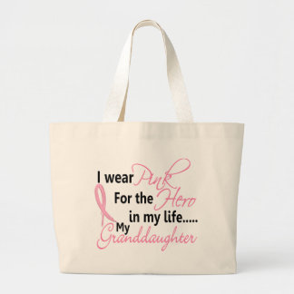 Breast Cancer HERO IN MY LIFE, MY GRANDDAUGHTER 1 Large Tote Bag