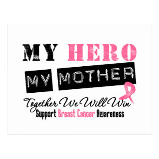 Breast Cancer HERO My Mother Postcard
