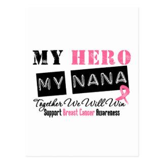 Breast Cancer HERO My Nana Postcard