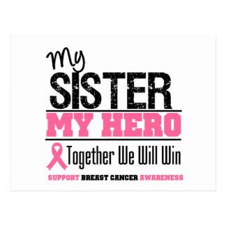 Breast Cancer Hero Sister Postcard