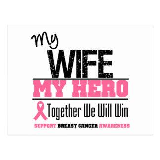 Breast Cancer Hero Wife Postcard