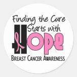 Breast Cancer HOPE 4 Classic Round Sticker