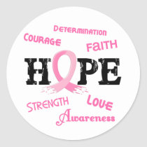 Breast Cancer HOPE 7.1 Classic Round Sticker