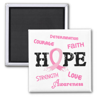 Breast Cancer HOPE 7.1 Fridge Magnet