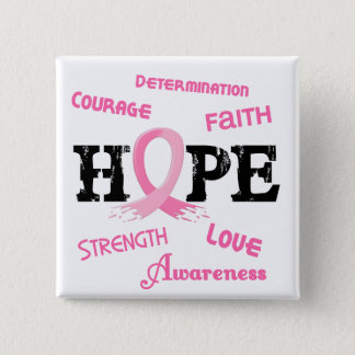 Breast Cancer HOPE 7.1 Pinback Button
