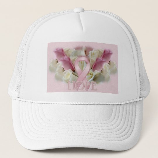 Breast Cancer Hope Awareness Ribbon Trucker Hat