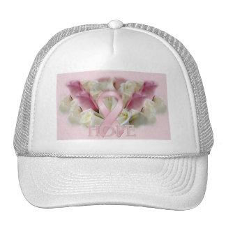 Breast Cancer Hope Awareness Ribbon Trucker Hat