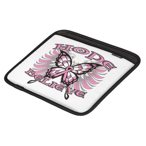 Breast Cancer Hope Believe Butterfly Sleeve For iPads