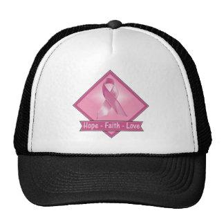 Breast Cancer Hope Faith Love Hat