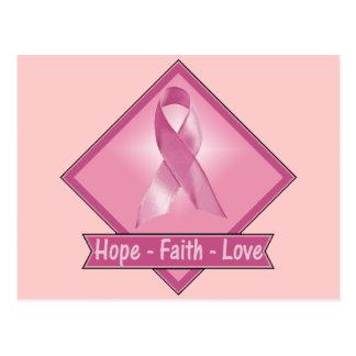 Breast Cancer Hope Faith Love Postcard