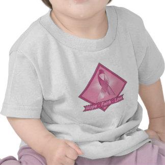 Breast Cancer Hope Faith Love Tee Shirts