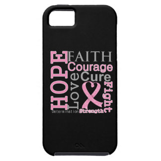 Breast Cancer Hope Faith Motto iPhone 5 Cases