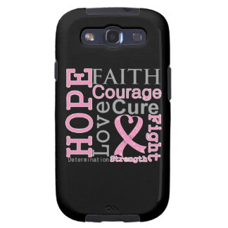 Breast Cancer Hope Faith Motto Galaxy S3 Case