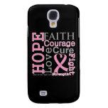 Breast Cancer Hope Faith Motto Samsung Galaxy S4 Covers