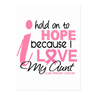 Breast Cancer Hope for My Aunt Postcard