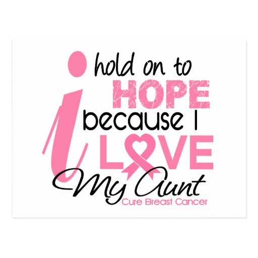 Breast Cancer Hope for My Aunt Postcards