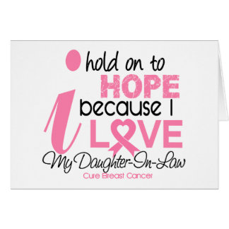 Breast Cancer Hope for My Daughter-In-Law Greeting Card
