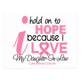 Breast Cancer Hope for My Daughter-In-Law Postcard