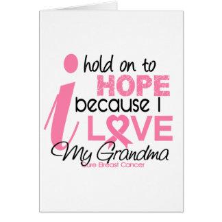 Breast Cancer Hope for My Grandma Card