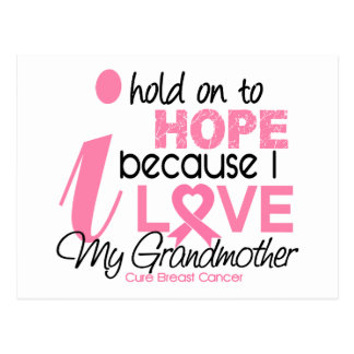 Breast Cancer Hope for My Grandmother Postcard