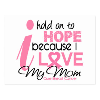 Breast Cancer Hope for My Mom Postcard