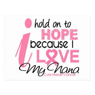 Breast Cancer Hope for My Nana Postcard