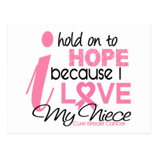Breast Cancer Hope for My Niece Postcard