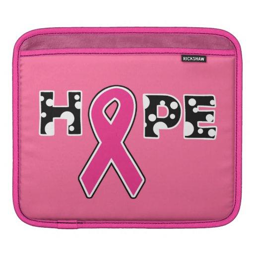 """Breast Cancer """"Hope"""" iPad Rickshaw Sleeve Sleeve For iPads"""